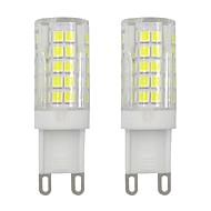 billige Bi-pin lamper med LED-3w g9 mini ledet mais pære 2835 smd 64 leds for vegglys hjem belysning kald hvit hvit hvit AC 220v - 240v (2 stk)