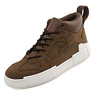 Homens Sapatos Confortáveis Couro Ecológico Outono Casual Tênis Não escorregar Amarelo / Café / Verde Tropa