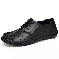 baratos Sapatos Masculinos-Homens Sapatos Confortáveis Pele / Couro Ecológico Outono Casual Tênis Não escorregar Cinzento / Castanho Claro / Castanho Escuro