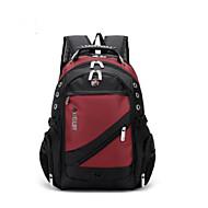 tanie Plecaki-Unisex Torby Oksford plecak Zamek Jednokolorowe Czarny / Czerwony / Fioletowy