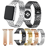 billiga Smart klocka Tillbehör-Klockarmband för Apple Watch Series 4 / Apple Watch Series 4/3/2/1 Apple Klassiskt spänne Metall / Rostfritt stål Handledsrem