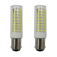 billige Kornpærer med LED-2pcs 5 W 460 lm BA15d LED-kornpærer 102 LED perler SMD 2835 Varm hvit / Kjølig hvit 220-240 V