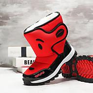baratos Sapatos de Menino-Para Meninos / Para Meninas Sapatos Couro Ecológico Inverno / Outono & inverno Botas de Neve Botas Caminhada Estampa Animal para Adolescente Vermelho / Azul / Botas Cano Médio