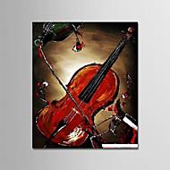 billiga Stilleben-Hang målad oljemålning HANDMÅLAD - Stilleben Moderna Inkludera innerram / Sträckt kanfas