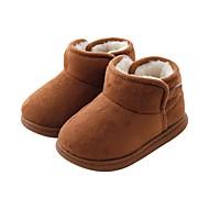 baratos Sapatos de Menino-Para Meninos / Para Meninas Sapatos Camurça Inverno Conforto / Botas de Neve Botas para Bébé Prata / Rosa claro / Camel