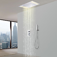 billiga Duschkranar-Duschkran - Nutida Krom Duschsystem Keramisk Ventil Bath Shower Mixer Taps / Mässing / Tre Handtag tre hål