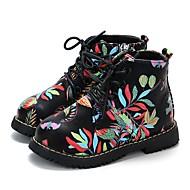 baratos Sapatos de Menina-Para Meninas Sapatos Couro Ecológico Primavera & Outono / Primavera Verão Conforto / Botas da Moda Botas Caminhada Ziper / Cadarço para Infantil Branco / Preto / Botas Curtas / Ankle
