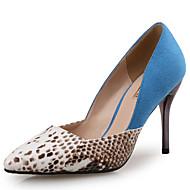baratos Sapatos Femininos-Mulheres Stiletto Sintéticos Outono & inverno Saltos Salto Agulha Dedo Apontado Preto / Azul / Festas & Noite