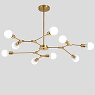 billige Takbelysning og vifter-galvanisert nord-europa lysekrone 9-hode moderne metallmolekyler anheng lys stue spisestue soverom