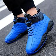 baratos Sapatos de Menina-Para Meninos / Para Meninas Sapatos Couro Ecológico Primavera & Outono / Primavera Conforto Tênis Corrida / Caminhada Cadarço para Infantil / Adolescente Preto / Vermelho / Azul Real