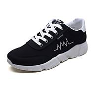 baratos Sapatos Masculinos-Homens Sapatos Confortáveis Com Transparência Outono Esportivo Tênis Corrida Não escorregar Preto / Preto / Vermelho