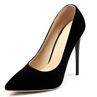 رخيصةأون -نسائي أحذية الراحة جلد محفوظ الربيع كعوب كعب ستيلتو أحمر / أزرق / اللوز / مناسب للبس اليومي