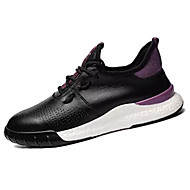 baratos Sapatos Masculinos-Homens Sapatos Confortáveis Couro Ecológico Outono Tênis Caminhada Branco / Preto / Roxo
