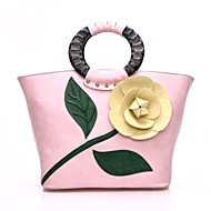 baratos Bolsas Tote-Mulheres Bolsas PU Tote Flor Vermelho / Rosa / Fúcsia