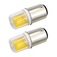 billige Bi-pin lamper med LED-2,5w ba15d mini led lampe glassdeksel 1511 cob ac 220v / ac 120v kald / varm hvit dobbel bajonett symaskin (2 stk)