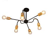 billige Takbelysning og vifter-QINGMING® 6-Light Mini Lysekroner Omgivelseslys Malte Finishes Metall Tre / Bambus Mini Stil 110-120V / 220-240V