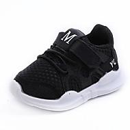 baratos Sapatos de Menino-Para Meninos / Para Meninas Sapatos Com Transparência Primavera & Outono Conforto Tênis Velcro para Infantil / Bébé Branco / Preto / Rosa claro