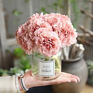 billige Kunstige blomster-Kunstige blomster 5 Gren Klassisk Moderne / Nutidig Peoner Bordblomst