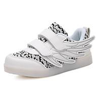baratos Sapatos de Menina-Para Meninos / Para Meninas Sapatos Couro Ecológico Primavera & Outono / Primavera Verão Conforto Tênis Caminhada Velcro / LED para Infantil Branco / Fúcsia / Black / azul