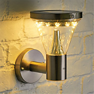 billige Utendørs Lampeskjermer-HKV 1pc 5 W Solar Wall Light Vanntett / Solar / Motion Detection Monitor Varm hvit 3.7 V Utendørsbelysning / Courtyard / Have 13 LED perler