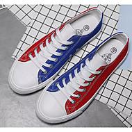 baratos Sapatos de Tamanho Pequeno-Homens Mocassim Lona Primavera Tênis Vermelho / Verde / Azul