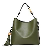 baratos Bolsas Tote-sacos de mulheres tote de couro napa vermelho / preto / verde