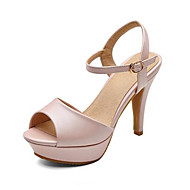 Žene Udobne cipele PU Ljeto Sandale Stiletto potpetica Plava / Pink / Badem