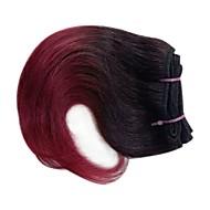 3 svazky Peruánské vlasy Volný 8A Přírodní vlasy Tónované 8 inch Burgundská fialová Lidské vlasy Vazby Tkanina Rozšíření lidský vlas Vše
