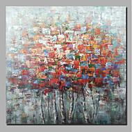 billiga Blom-/växtmålningar-Hang målad oljemålning HANDMÅLAD - Abstrakt Blommig / Botanisk Samtida Moderna Inkludera innerram / Sträckt kanfas