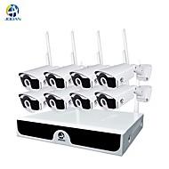 billige Trådløst CCTV System-jooan® trådløst cctv-system 4 kanals 1080p videoopptaker cctv nvr 4 x 2.0mp wifi utendørs nettverk ip kameraer god nattesyn