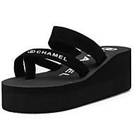 baratos Sapatos Femininos-Mulheres Sapatos Confortáveis Camurça Verão Sandálias Sem Salto Preto / Vermelho