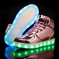 tanie Obuwie dziewczęce-Dla chłopców / Dla dziewczynek Obuwie PU Jesień i zima Świecące buty Adidasy LED na Złoty / Srebrny / Różowy
