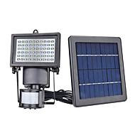 billige Utendørs Lampeskjermer-4stk / 1pc 5 W plen Lights / Led Street Light / Solar Wall Light Solar / Infrarød sensor / Lysstyring Varm hvit / Hvit 3.7 V Utendørsbelysning / Courtyard / Have 60 LED perler