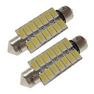 sencart 2pcs 41mm רכב נורות 7w smd 5730 420 lm 14 לבן / חם לבן הוביל אורות פנים / אורות חיצוניים