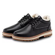 baratos Sapatos Masculinos-Homens Sapatos Confortáveis Couro Ecológico Inverno Formais Oxfords Manter Quente Preto / Azul / Khaki