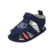 baratos Sapatos de Menino-Para Meninos Sapatos Jeans Verão Primeiros Passos Sandálias Velcro para Bebê Azul Escuro / Marron / Azul Claro