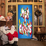 cheap Wall Art-Door Stickers - 3D Wall Stickers Christmas Decorations / Holiday Indoor / Outdoor