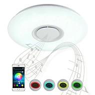 billige Takbelysning og vifter-Flush Mount Lighting Nedlys Plast Bluetooth-kontroll 200-240V Varm hvit + hvit