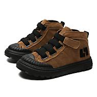 cheap Kids' Boots-Boys' / Girls' Shoes Pigskin Winter Combat Boots Boots Magic Tape for Kids Black / Brown / Khaki