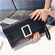 baratos Clutches & Bolsas de Noite-Mulheres Bolsas PU Bolsa de Mão Ziper Preto / Vermelho / Cinzento Escuro