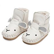 Χαμηλού Κόστους Παιδικά Slipper-Αγορίστικα / Κοριτσίστικα Παπούτσια Δερμάτινο Χειμώνας Πρώτα Βήματα / Γούνα επένδυση Παντόφλες & flip-flops Ταινία Δεσίματος για Παιδιά / Βρέφος Λευκό / Κόκκινο / Χακί / Συνδυασμός Χρωμάτων