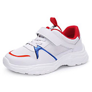 baratos Sapatos de Menino-Para Meninos Sapatos Sintéticos Primavera & Outono Conforto Tênis Caminhada Cadarço para Infantil / Adolescente Branco / Preto
