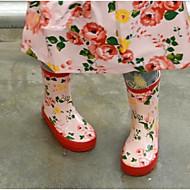 baratos Sapatos de Menina-Para Meninos / Para Meninas Sapatos Borracha Primavera Conforto Botas para Adolescente Laranja / Vermelho