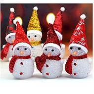 1pc ανάβει φως χιονισμένο χιονάνθρωπος ζεστό λευκό leds Χριστούγεννα Χριστούγεννα διακόσμηση τυχαίο χρώμα