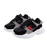 baratos Sapatos de Menina-Para Meninas Sapatos Couro Ecológico Primavera Verão / Outono & inverno Conforto Tênis para Preto / Preto / Vermelho