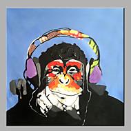 billiga Oljemålningar-Hang målad oljemålning HANDMÅLAD - Abstrakt / Popkonst Klassisk / Moderna Utan innerram