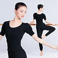 Ballet Topper Dame Trening / Ytelse Elastan / Lycra Strikk Kortermet Topp