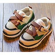 baratos Sapatos de Menino-Para Meninos / Para Meninas Sapatos Couro Ecológico Primavera & Outono Conforto Tênis Velcro para Infantil Preto / Bege / Castanho Claro / Estampa Colorida