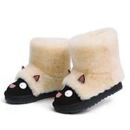 baratos Sapatos de Menino-Para Meninos / Para Meninas Sapatos Pele Inverno Botas de Neve / Forro de peles Botas para Infantil / Adolescente Amêndoa / Castanho Escuro / Khaki / Botas Cano Médio