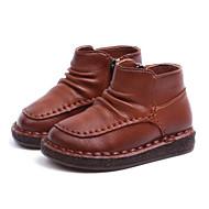 baratos Sapatos de Menino-Para Meninos / Para Meninas Sapatos Microfibra Inverno Botas de Neve Botas Ziper para Bébé Preto / Marron / Rosa claro / Botas Curtas / Ankle